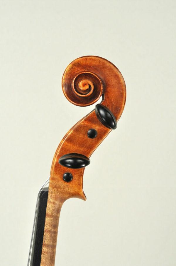 Johann Glass antik mesterhegedű csiga