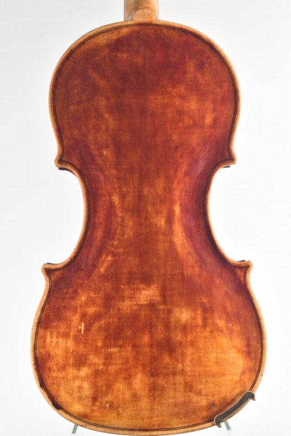 G. Chiocci antik mesterhegedű hátoldala