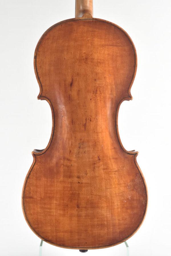 Carolus Joseph Hellmer antik mesterhegedű hátoldala