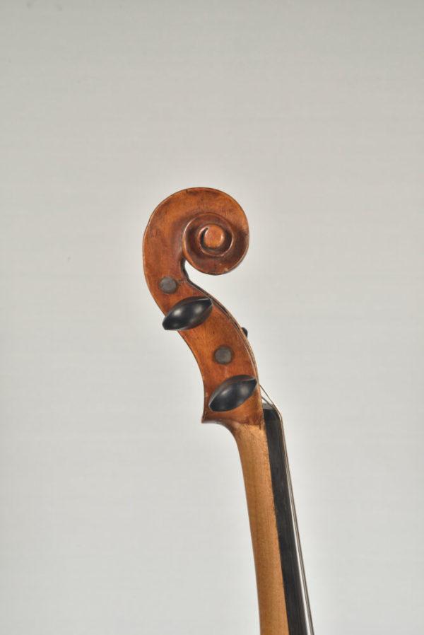 Carolus Joseph Hellmer antik mesterhegedű csiga