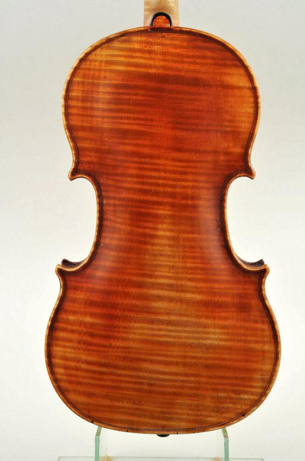Szepessy Béla mesterhegedű 1875 hátoldal